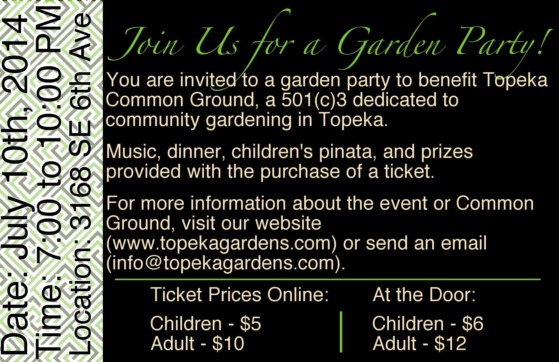 TCG Garden Party